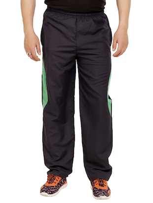 blue polyester  full length track pant -  online shopping for Track Pants
