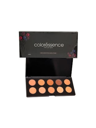 Coloressence High Definition Make-up Base Pallate Foundation (HDM-I (10shades), 20 g)