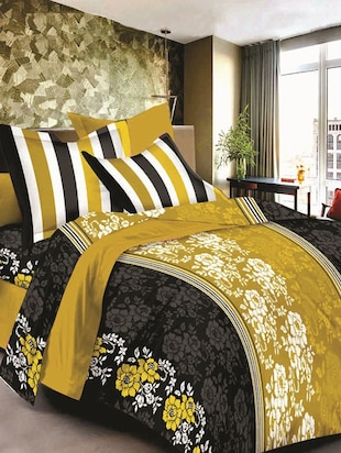 Valtellina cotton king size 1 double bedsheet with 2 pillow covers
