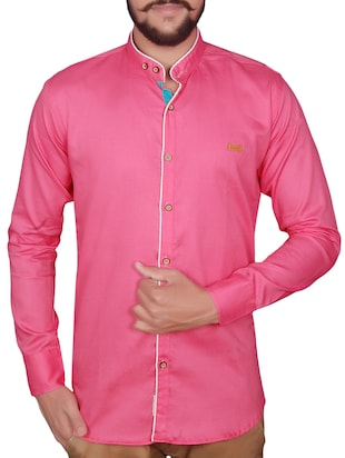 pink linen casual shirt -  online shopping for casual shirts