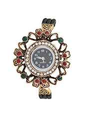 om black kundan analog watch -  online shopping for Analog watches