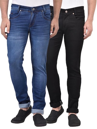 blue black set of 2 denim washed jean