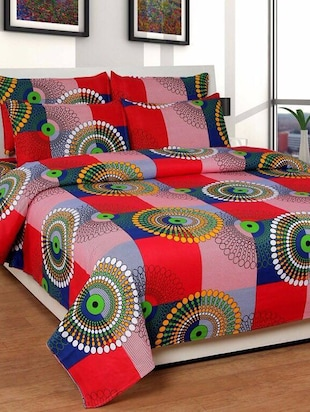 100% Original Bajaj Double Bed Bedsheet With 2 Pillow Covers