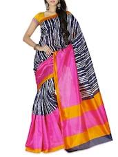 Multicoloured Bhagalpuri Art Silk Printed Saree - By