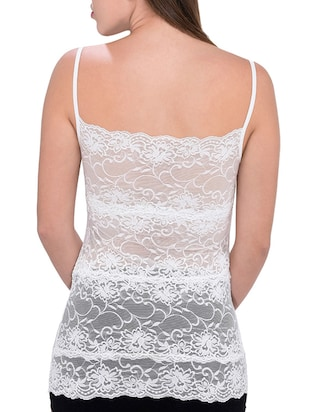 white net lace camisole - 13254089 - Standard Image - 2