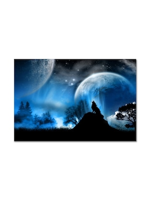 Howl At The Moon Multicolored  Matte Finish Poster