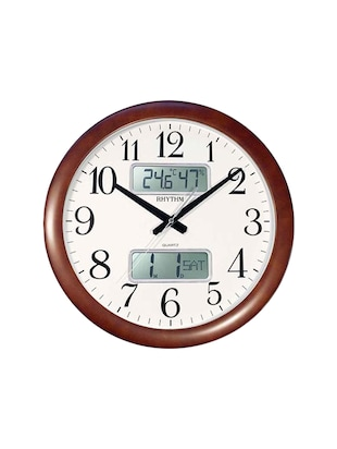 Brown wooden Analog Clock