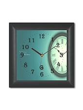 Multicolored Plastic And Glass Clock In A Clock Printed Wall Clock - By