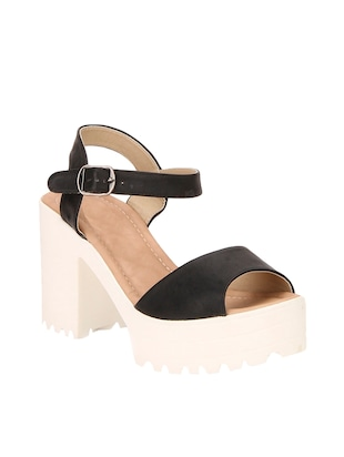 black ankle strap wedge