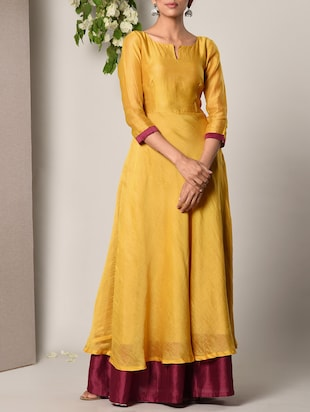 yellow solid gown - 13266848 - Standard Image - 2
