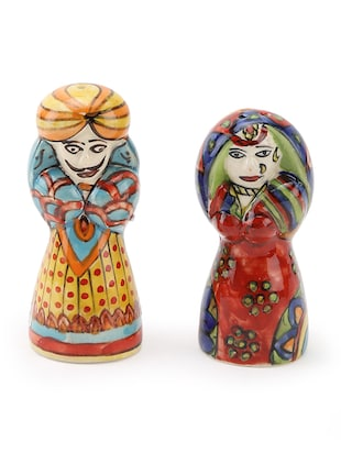 Rajasthani Hand Painted Ceramic Salt & Pepper Sets