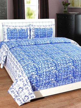 BSB Trendz Cotton Double Bedsheet With 2 Pillow Covers