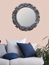 MakeHomeHappy Silver Wooden Elegant Wall Mirror - By