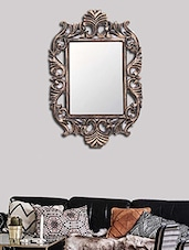 MakeHomeHappy Gold MDF Flashy Wall Mirror - By