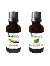 Combo Of Jojoba Oil And Peppermint Oil For Hair Growth, Skin Care (Each 15ML)- 100% Pure Natural Oil - By