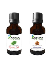 Combo Of Neem Carrier Oil And Almond Oil For Hair Growth, Skin Care (Each 15ML)- 100% Pure Natural Oil - By