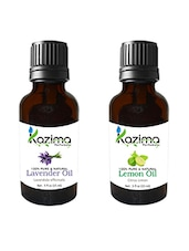 Combo Of Lavender Oil And Lemon Oil For Hair Growth, Skin Care (Each 15ML)- 100% Pure Natural Oil - By