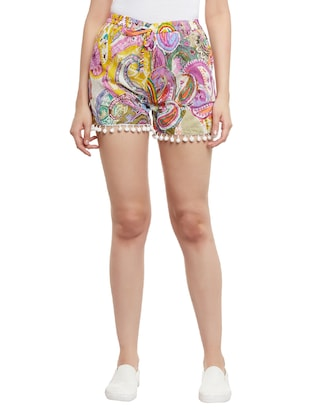 multi colored cotton short