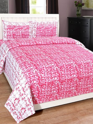 Home Fantasy Cotton Floral Double Bedsheet With 2 Pillow Cover