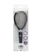 Elite Models Plastic Bristles Cushion Hair Brush - Black - By