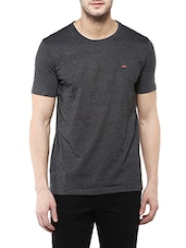 solid grey cotton t-shirt -  online shopping for T-Shirts