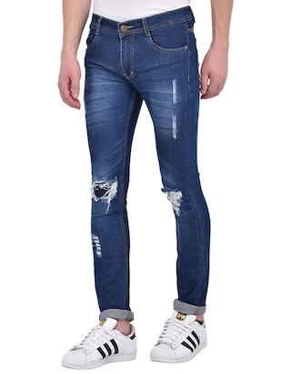 blue denim ripped jeans - 13386439 - Standard Image - 2
