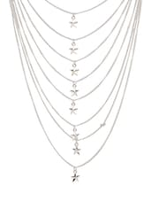 silver plated long necklace -  online shopping for Necklaces