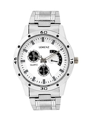 LORENZ MK-102A X3 Sliver dial Men's Watch -  online shopping for Analog Watches