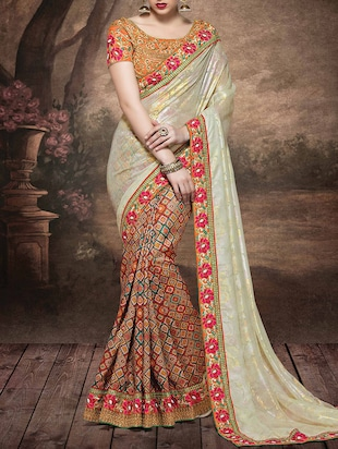 multi georgette half and saree