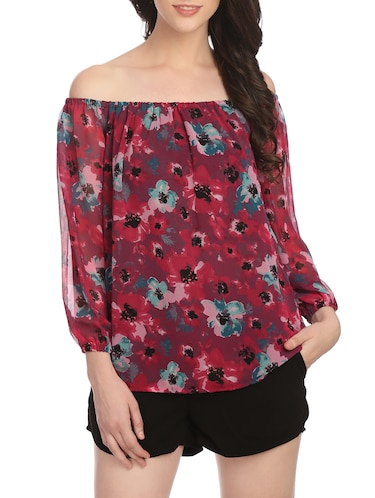 22c39cd7da21 Buy Multi Colored Georgette Top for Women from Her Complete Woman for ₹600  at 0% off