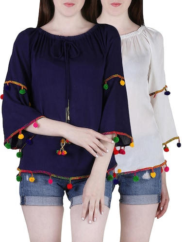 002239944125b Buy Set Of 2 Multicolored Rayon Tops for Women from Jolliy for ₹687 ...