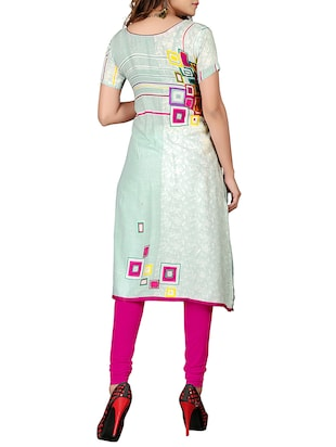 6e8fe7ebebe Buy Multi Coloured Rayon Printed Straight Kurta for Women from Cast  Creation for ₹1599 at 0% off | 2019 Limeroad.com