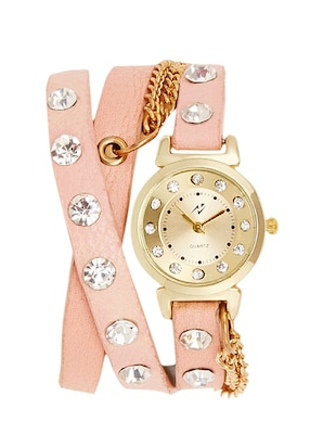 Yepme Women's Bracelet Watch - Golden/Pink