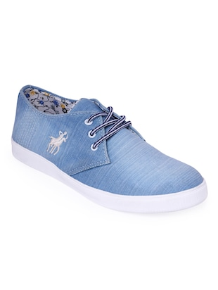blue Denim lace up sneaker
