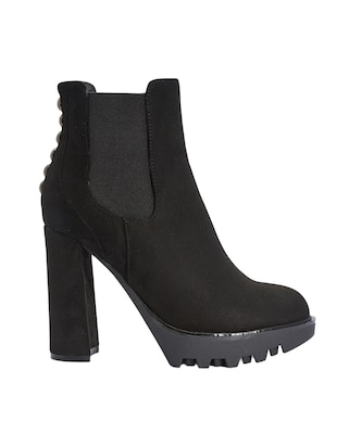 black suede  ankle  boot - 13482483 - Standard Image - 2