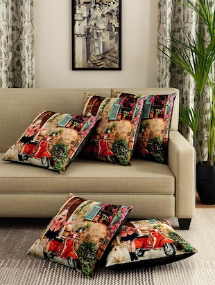 Romee Polyester Set Of 5 Cushion Cover
