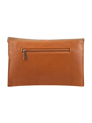 Brown leatherette regular sling bag - 13675883 - Standard Image - 2