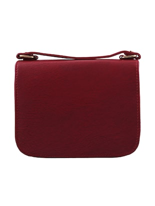 red leatherette sling bag - 13675894 - Standard Image - 2