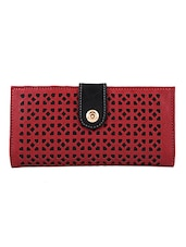 maroon leatherette regular clutch -  online shopping for clutches