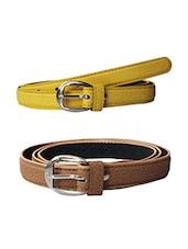 Multi Colored Leatherette (pu Belt - By - 13681417