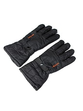 black leather glove -  online shopping for Gloves