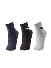 multi colored set of 3 cotton sock -  online shopping for Socks