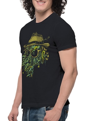 black cotton t-shirt - 13705796 - Standard Image - 2