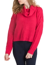 pink woolen knitted pullover - Online Shopping for Pullovers 21b164d6c