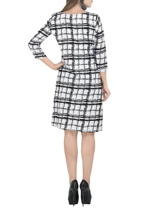Checked a-line dress - 13741131 - Standard Image - 2