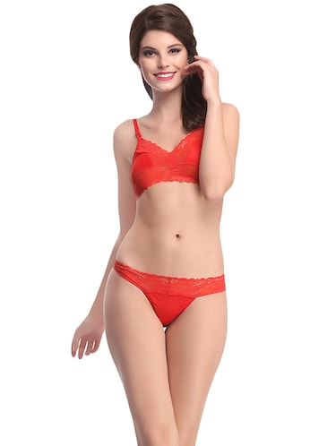 c05640f743a Red Lace Net Bra And Panty Set