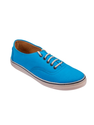 light blue Canvas lace up sneaker