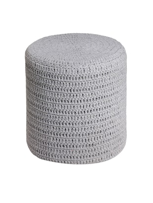 Buy Romee Hand Knitted Grey Pouf By Romee Online Shopping For Gorgeous Cheap Poufs Online