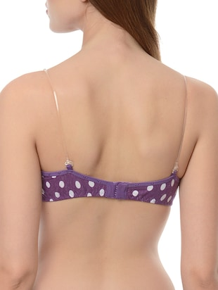 set of 2 multicolored polka dots printed nylon bras - 13748438 - Standard Image - 5