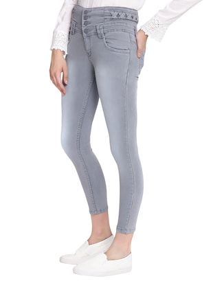 grey denim jeans - 13765508 - Standard Image - 2